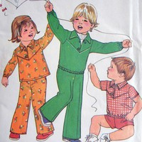 Simplicity Pattern 8282 Toddler Size Half, 1, Pants Shorts Top