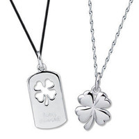 Eternal Love Flower Sterling Silver Couple Necklace - GULLEITRUSTMART.COM