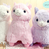 New Arpakasso Lovely Big Alpacasso Alpaca Toy Plush Doll Gift 1 PCS 3 Color