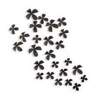 flower art - black - set of 25 - a modern, contemporary wall decor from chiasso