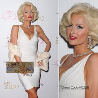 Paris Hilton in H022B Dress - Designer Shoes|Bqueenshoes.com