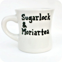 Sherlock Holmes Funny Mug coffee tea cup diner mug black white Moriarty mystery literature
