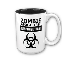 Zombie Apocalypse Response Team 15 oz Mugs from Zazzle.com
