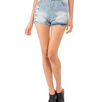 Studded Cut Off Denim Shorts - 2020AVE