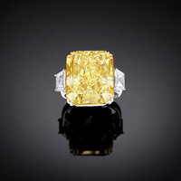 Estate Jewelry - Fine Jewelry - Diamond Jewelry - Yellow Diamond - Diamond Ring ~ M.S. Rau Antiques