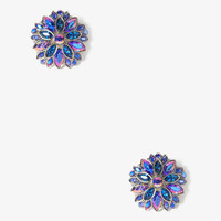 Bejeweled Flower Earrings | FOREVER 21 - 1027705352