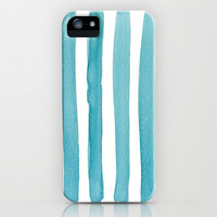 Watercolor Juicy Strokes: Teal iPhone Case by Social Proper | Society6