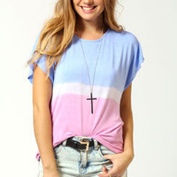 Ellen Tie Dye Cowl Back Oversized Tee