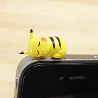 Kawaii Sleeping Pikachu Pokemon Dust Plug 35mm Smart by Polaris798