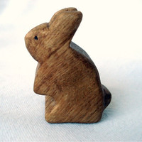 Wooden Toy Bunny Rabbit Standing by LittleWoodlanders on Etsy