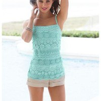 LAYERED CROCHET CAMI
