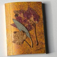 NatureInspired Pocket Journal Healing Leaves by walkinthewoodsllc