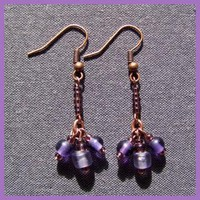 Purple Coppertone Earrings by AthomicArtandDesign on Zibbet