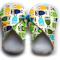Womens Slippers, Owls