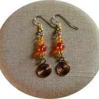 Modern Autumn Earrings by AthomicArtandDesign on Zibbet