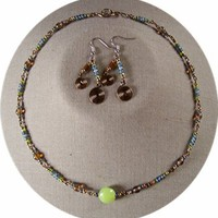 Grey Green Lentil Set by AthomicArtandDesign on Zibbet
