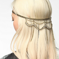 Urban Outfitters - Draped Rhinestone Goddess Chain Headwrap