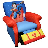 Warner Brothers Superman Deluxe Child Recliner - #X1592 | LampsPlus.com