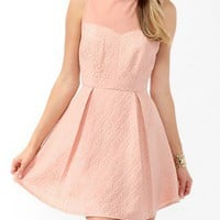 Pleated Brocade Dress | FOREVER 21 - 2019572830
