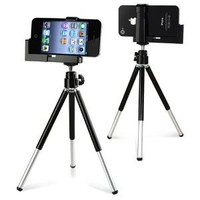 eForCity Black Tripod Phone Holder compatible with the New Apple® iPhone® 5
