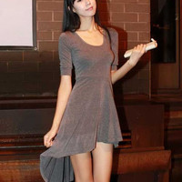 Long Lap Gray Personnalit Girls Dresses : Wholesaleclothing4u.com