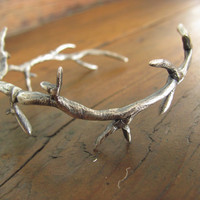 Sterling Silver Branch Cuff by StrayStones on Etsy