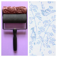 Patterned Paint Roller in Spring Bird Design and by NotWallpaper