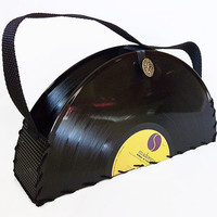 Handmade Record Purse Madonna Record Handbag by retrograndma
