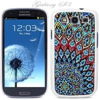 White Snap-on S3 Phone Cover Case for Samsung Galaxy SIII Phone - Aztec Mosaic Pattern Logo Design. Height:5.3 Inches X Width: 2.6 Inches X Thickness: 0.5 Inch. Personalized Design Is Available with a Minimum of 20 Cases Order.