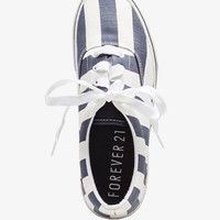 Striped Canvas Sneakers | FOREVER 21 - 2036790071