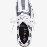 Striped Canvas Sneakers