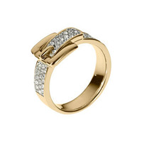 Michael Kors Pave Buckle Ring, Golden - Michael Kors