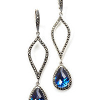 ideeli | JUDITH JACK Cobalt Blue Swirl Earrings