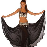 Belly Dancing Costume Set | Full Circular Skirt-coin Bra