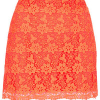 Fluro Orange Lace Pelmet Skirt -   - We Love