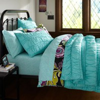 Ruched Quilt & Sham (just one ruched pillow)