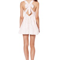 Light Pink Dress with Fitted Cut Out Top & Bow Back Detail