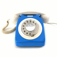 Blue/Ivory Vintage Telephone