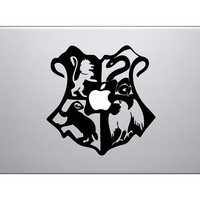 Hogwarts Crest Harry Potter vinyl decal for by UniqueMacDecal