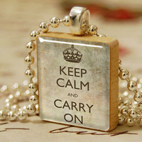 Free ChainVintage Style Keep Calm And Carry On by DewStudio