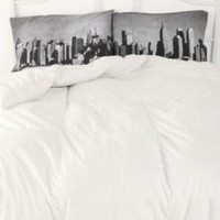 new york skyline pillows