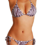 Amazon.com: Cloris Murphy Brazilian Zebra Bikini Halter Top &amp; Scrunchie Butt Bathing Suit AP126ZB One Size Zebra: Clothing