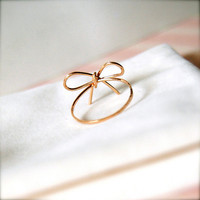 Ribbons -- Goldfilled Ribbon Rings -Wedding Momento, Bridesmaids Jewelry, Valentine Gifts, Everyday 