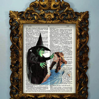 The Wizard of OZ Dictionary page art print by InsomniaStudios