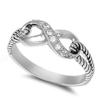 7MM ITALIAN Sterling Silver Polished INFINITY KNOT RING Ring Size 5-9 CELTIC: Jewelry: Amazon.com