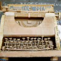 Cardboard Typewriter by Stacie013 on Etsy