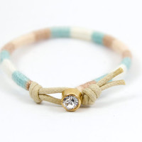 Woven Friendship Bracelet - Grace-- READT TO SHIP