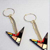 Miss Wax Jewelry The charged up tribal drop earrings