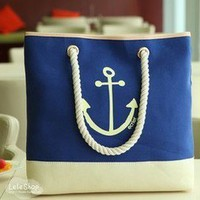 Bestgoods  Cute Blue Anchor Bag