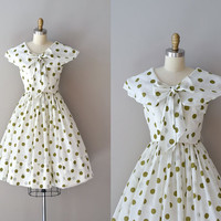 polka dot 50s dress / vintage 1950s dress / Humdinger dress